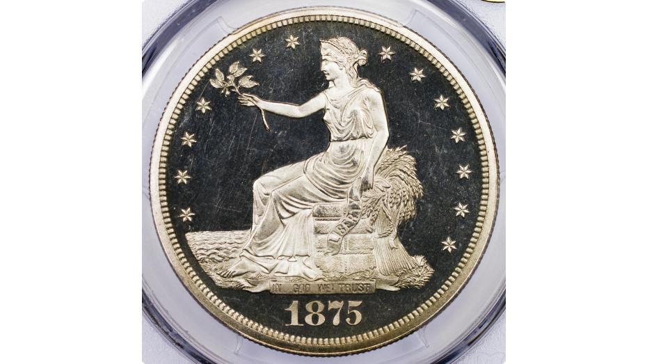 1875 Trade Dollar PCGS PF65 DCAM