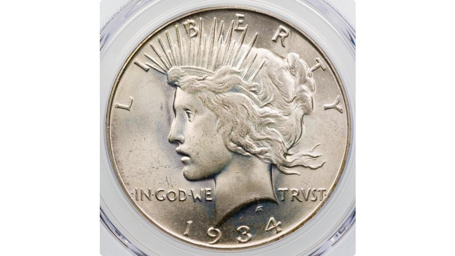 $1 1934-S Peace Dollar PCGS MS66