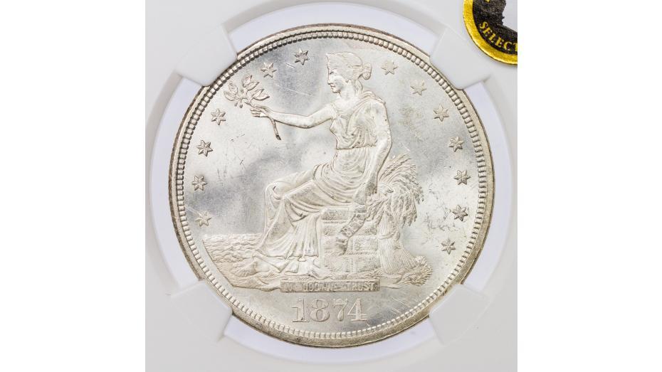 1874-CC Trade Dollar NGC MS65 Everest