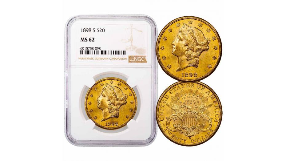 1898-S Liberty Head Gold Double Eagle NGC/PCGS MS62