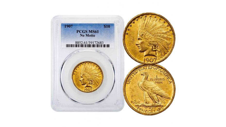 1907-P Indian Head Gold Eagle NGC/PCGS MS61