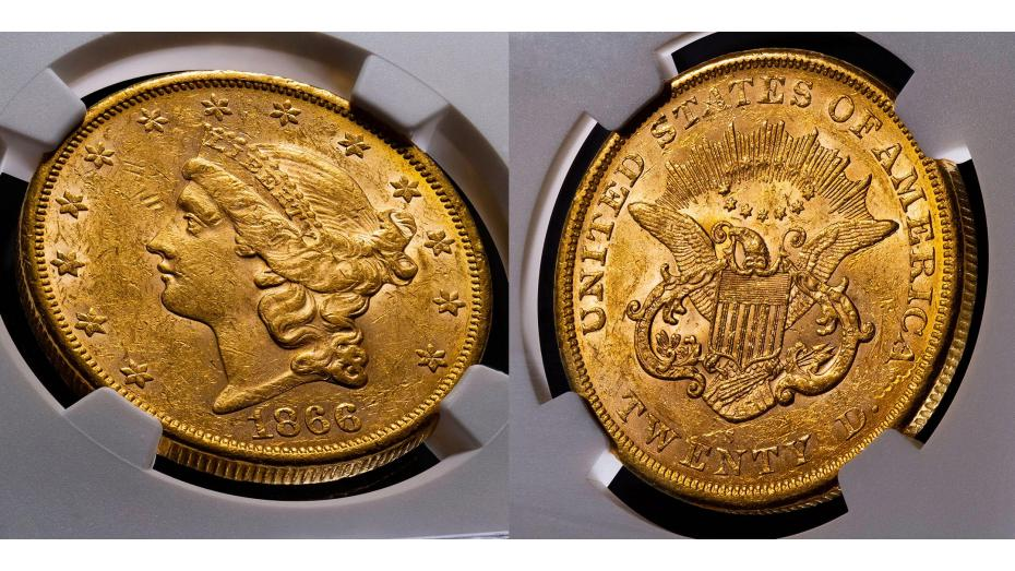 Ultra Rare Type 1 1866-S Liberty Head Double Eagle