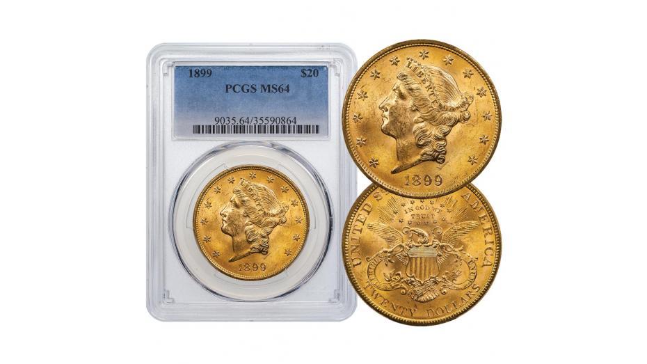 1899-P Liberty Head Gold Double Eagle MS64