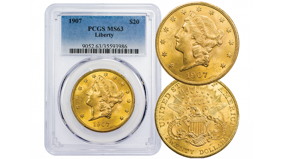 1907-P Liberty Head Gold Double Eagle NGC/PCGS MS63