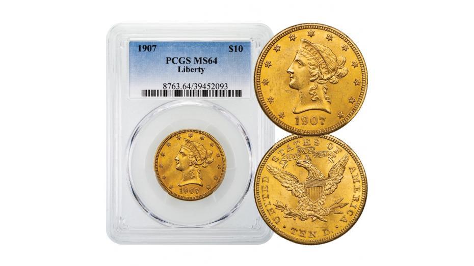 1907-P Liberty Head Gold Eagle PCGS MS64