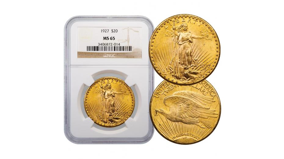 1927-P Saint-Gaudens Gold Double Eagle MS65