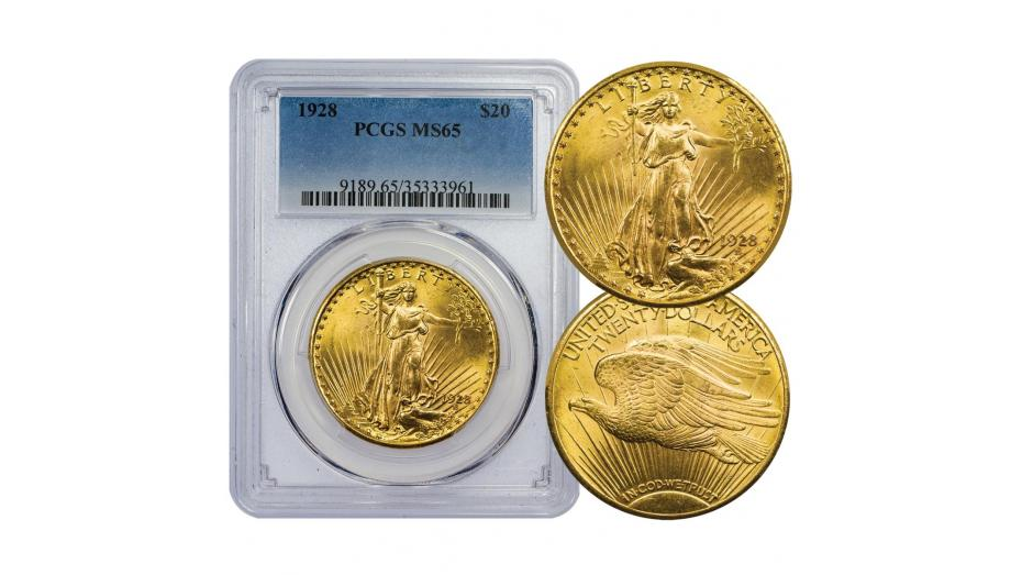 1928-P Gold Double Eagle MS65