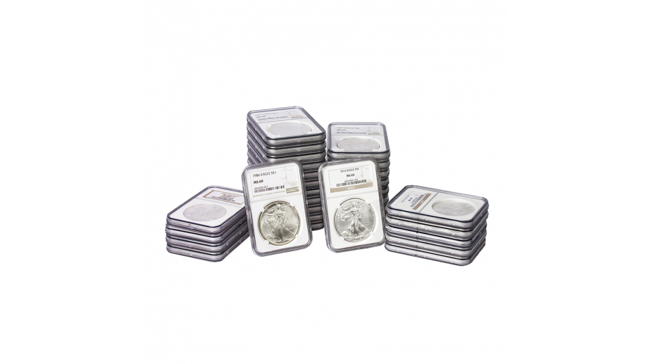 Set of 31: 1986 - 2016 American Silver Eagles MS69