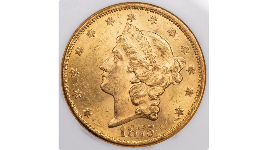 $20 1875-CC Liberty Head Double Eagle MS63
