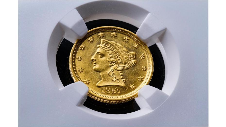 1857-D Liberty Head Quarter Eagle NGC MS64 #3937630-153