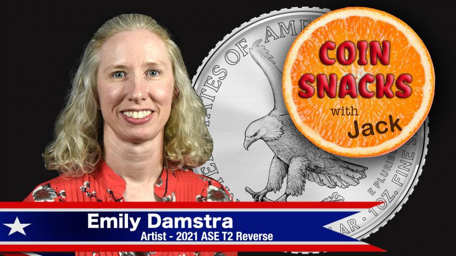 Coin Snacks with Jack features new American Silver Eagle artist Emily Damstra