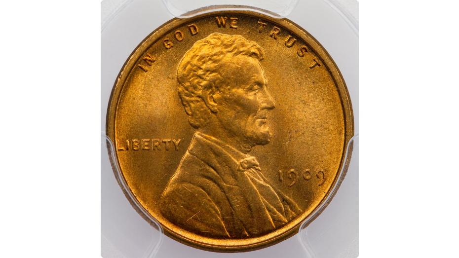 1909-S VDB Lincoln Cent PCGS MS66 RD