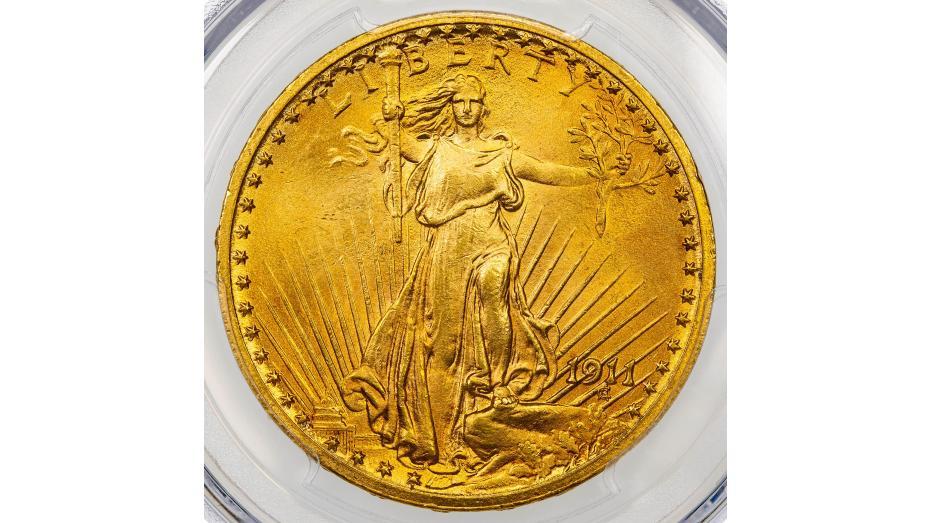 1911-P Saint Gaudens Gold Double Eagle MS65