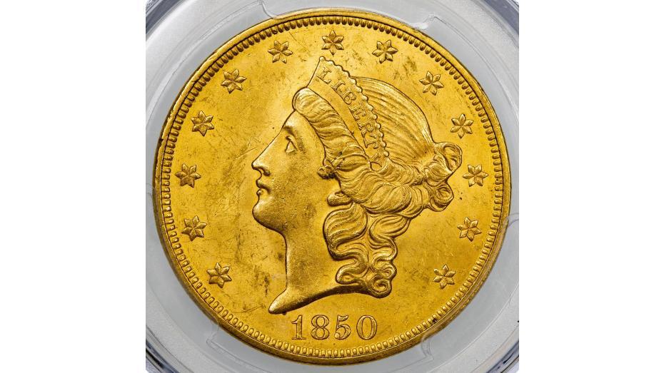 1850-P Liberty Head Double Eagle NGC/PCGS MS62+