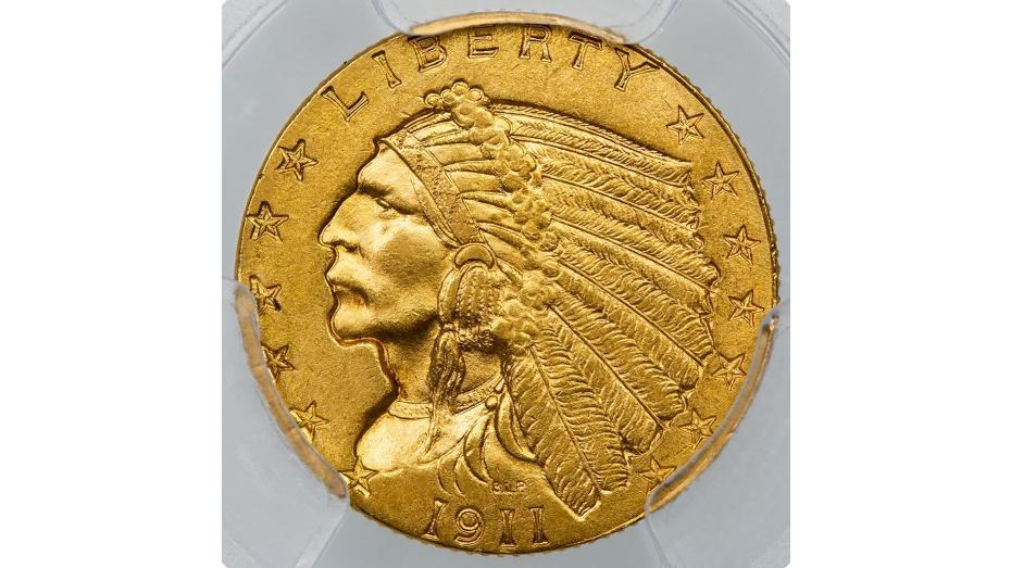 1911-D Indian Head Quarter Eagle MS63