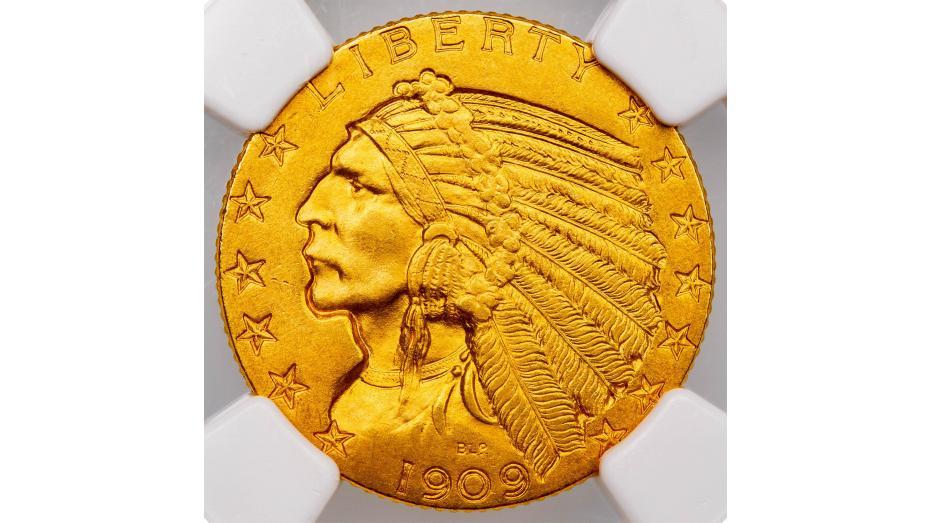 1909-O Indian Head Half Eagle MS64
