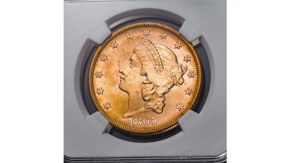 1865-S Liberty Head Gold Double Eagle NGC MS66