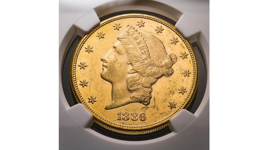 1886-P Liberty Head Gold Double Eagle NGC AU58