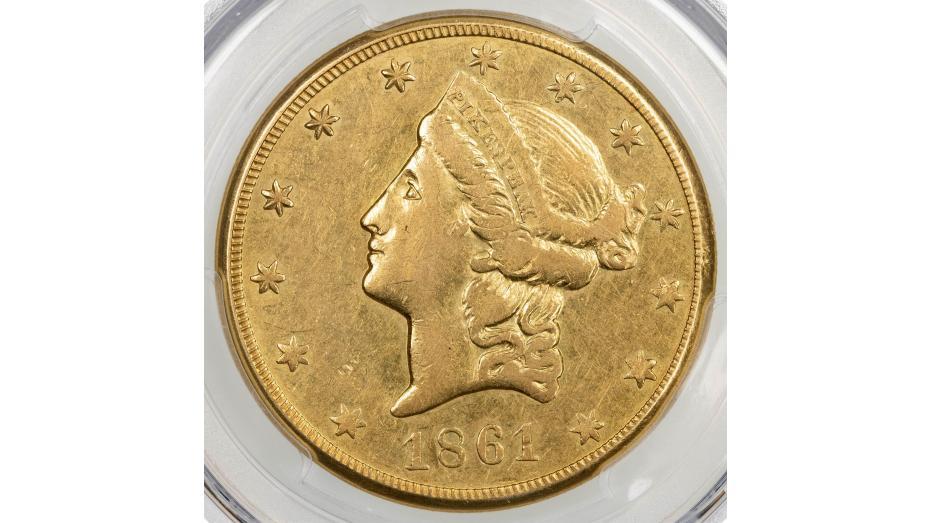 1861 Clark Gruber & Co. Liberty Head Gold Double Eagle PCGS AU50