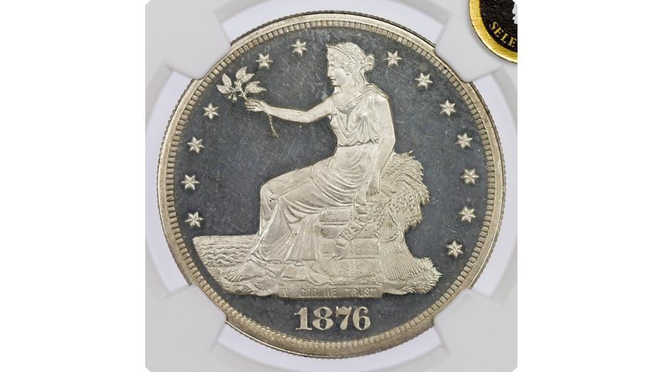 1876-P Trade Dollar NGC PF65 UCAM Everest