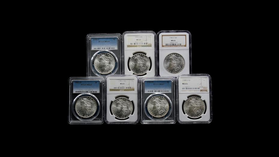 Set of 7: 1898-O - 1904-O Morgan Dollars MS65