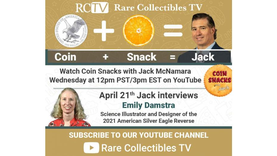 Emily S. Damstra, Coin and Medal Designer and Science Illustrator, to appear on Coin Snacks with Jack