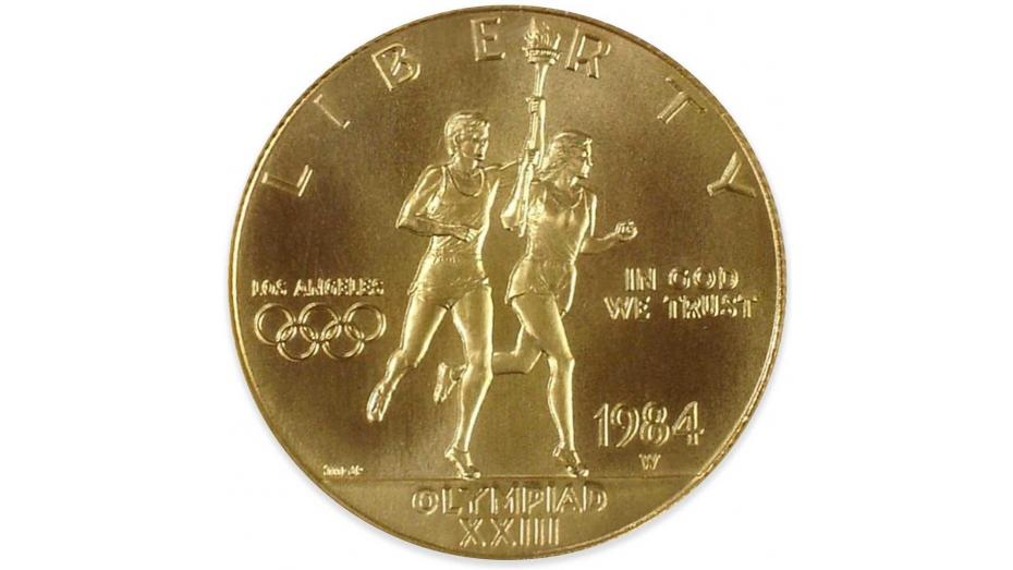 Obverse of the 1984 Olympic Commemorative Gold Eagle
