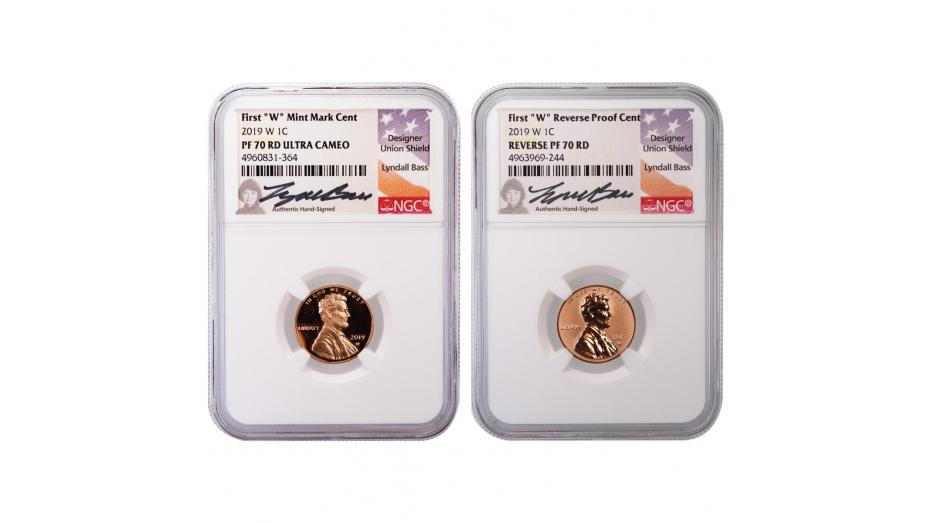 Set of 2: 2019-W Lincoln Cents PF70