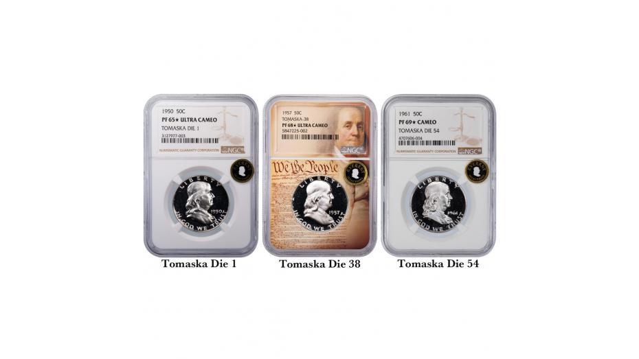 Tomaska Die Varieties for Franklin Half Dollars
