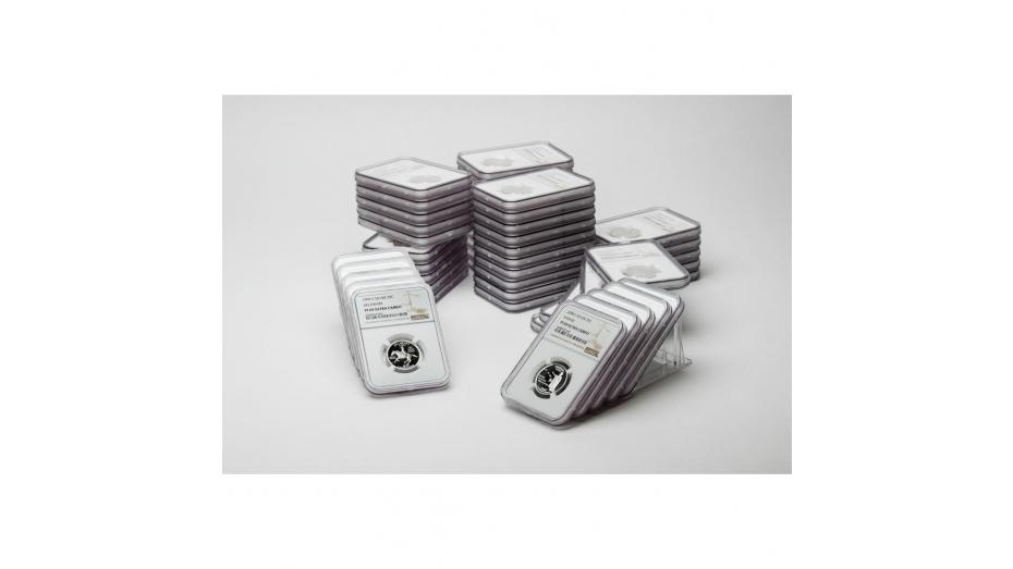 Set of 50: 1999-S - 2008-S Complete Silver Statehood Quarter Set PF69 UCAM