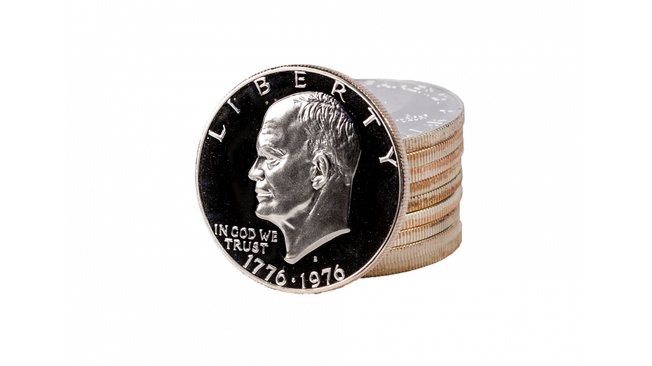 Roll of 10 1971-S Ike Silver Dollars