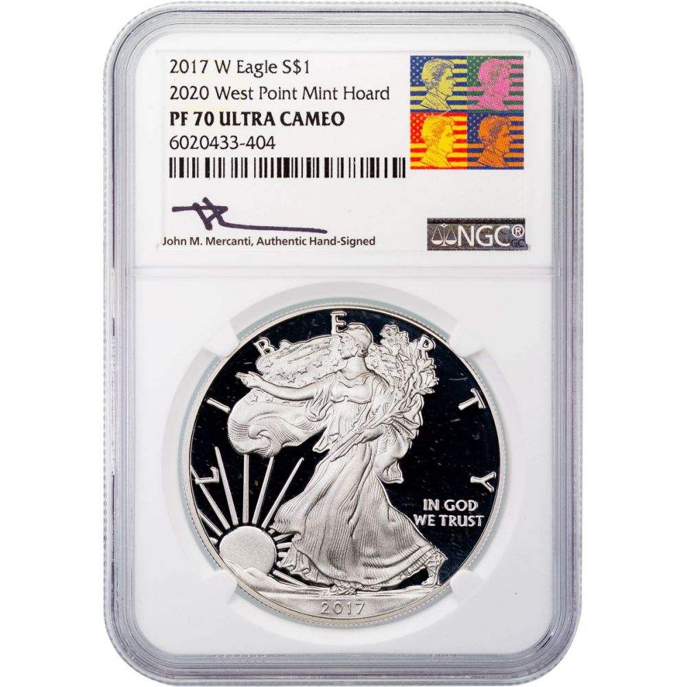 1 oz Silver American Eagle Struck at West Point Mint NGC MS70 W 2020