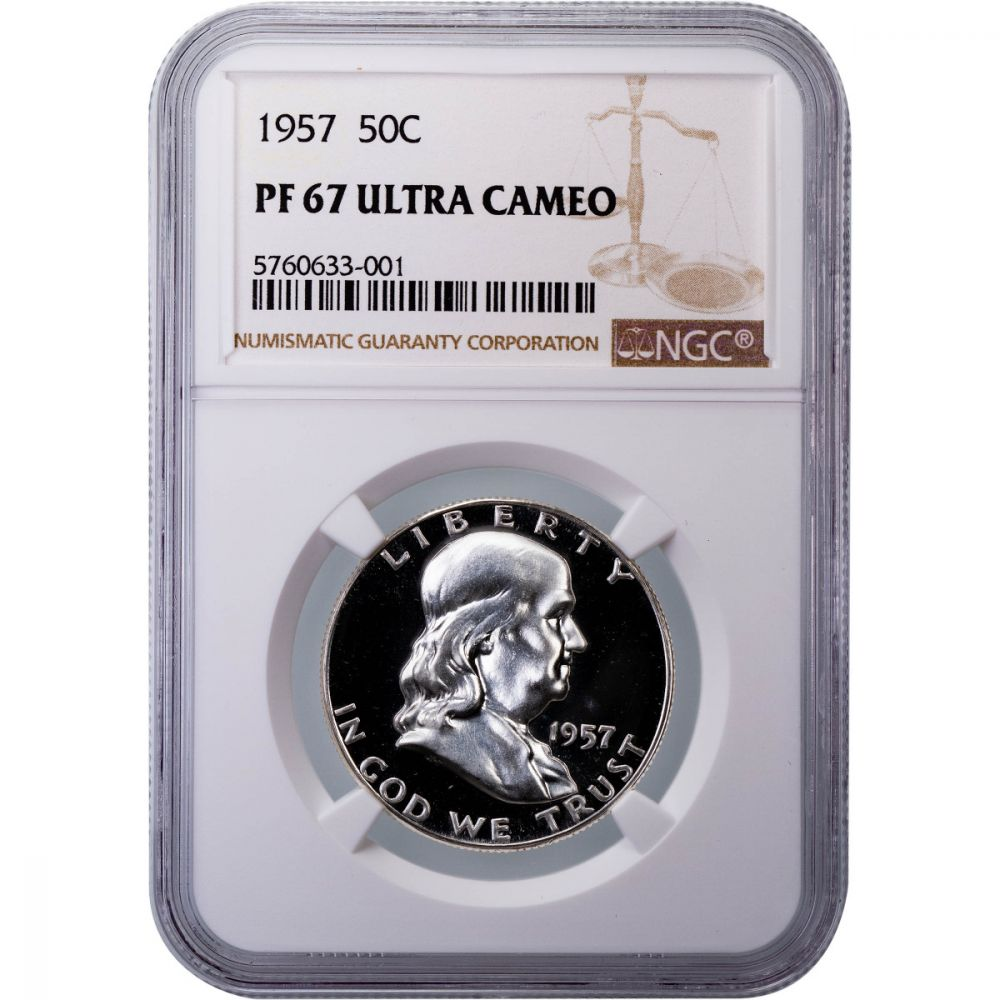 1963 50c Silver Proof Franklin Half Dollar NGC PF 67