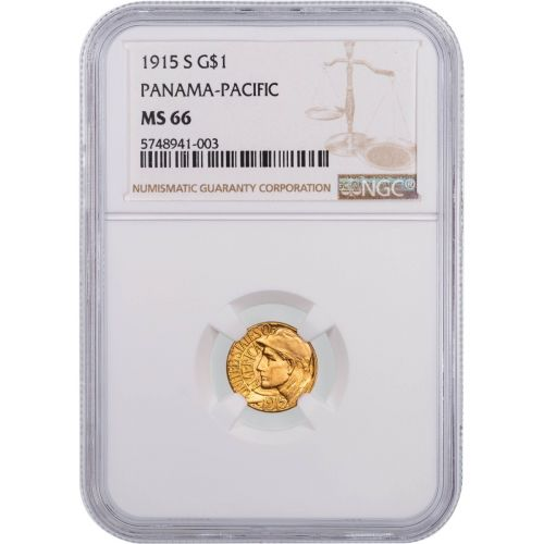 G$1 1915-S Pan Pac Gold Commemorative Dollar MS66