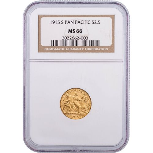 $2.5 1915-S Pan Pac Gold Commemorative MS66
