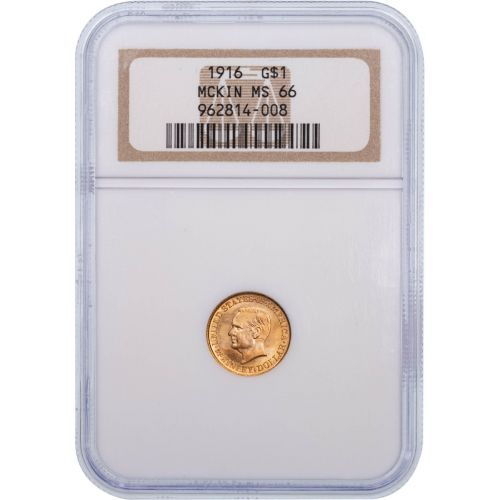 G$1 1916-P McKinley Gold Commemorative Dollar MS66