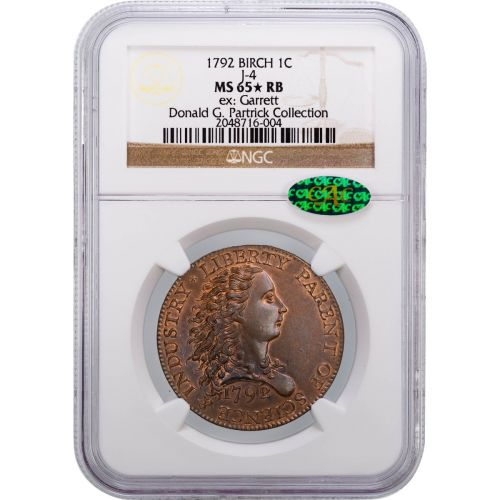 1792 Birch Cent J-4 NGC MS65 STAR RB CAC #2048716-004