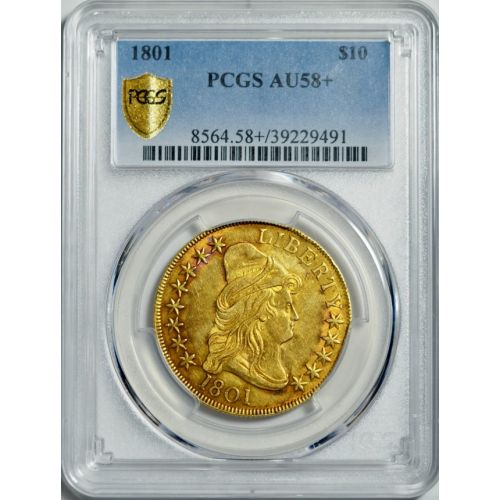 1801 Capped Bust Gold Eagle AU58+