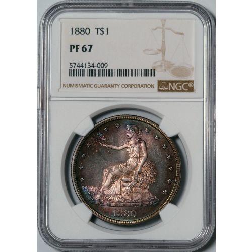1880 Trade Dollar NGC PF67