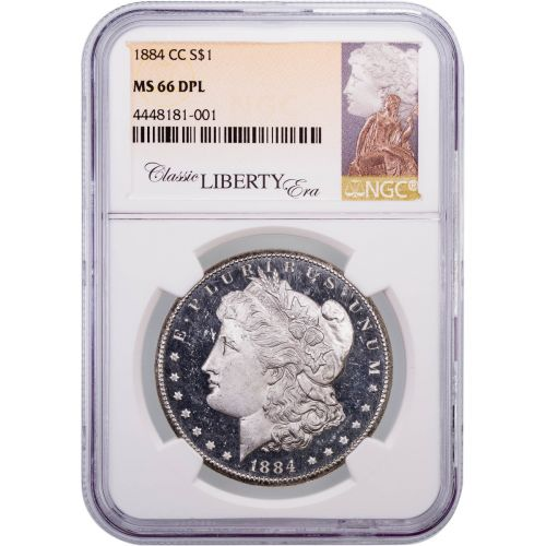1884-CC Morgan Dollar NGC MS66DMPL