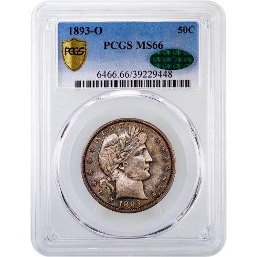 1893-O Barber Half Dollar MS66 CAC