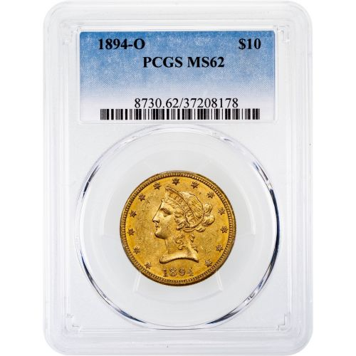 1894-O Liberty Head Gold Eagle MS62
