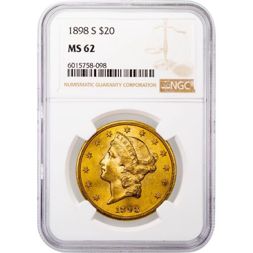 1898-S Liberty Head Gold Double Eagle MS62