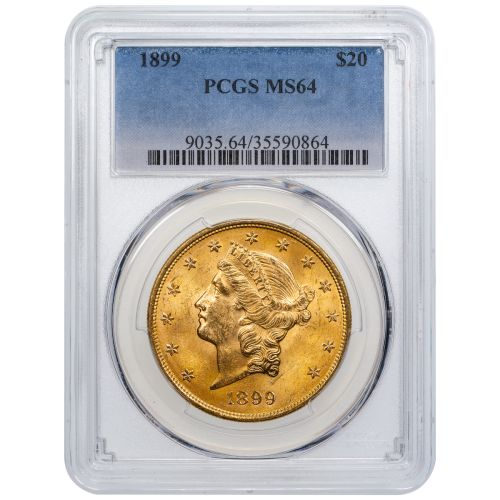 1899-P Liberty Head Gold Double Eagle MS64