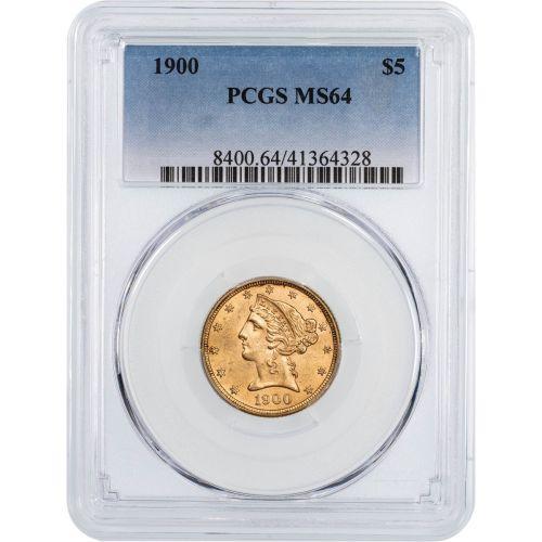 1900-P Liberty Head Gold Half Eagle MS64