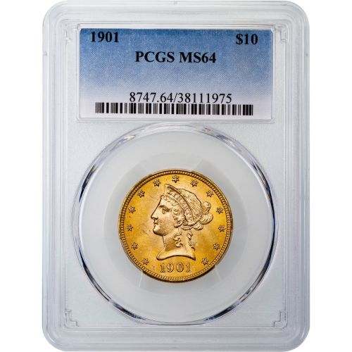 1901-P Liberty Head Gold Eagle MS64