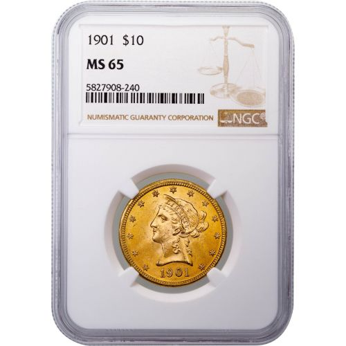 1901-P Liberty Head Gold Eagle MS65