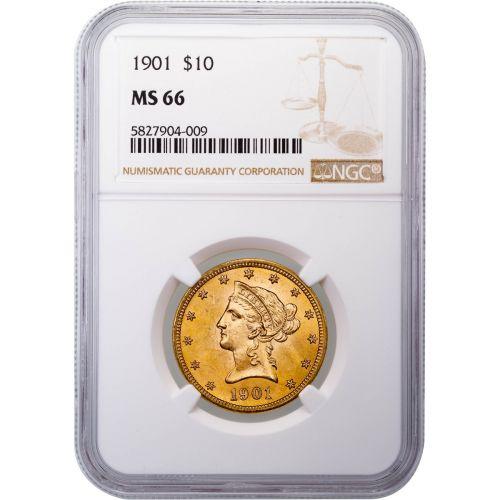 1901-P Liberty Head Gold Eagle MS66