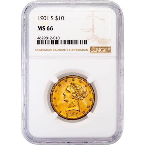 1901-S Liberty Head Gold Eagle MS66