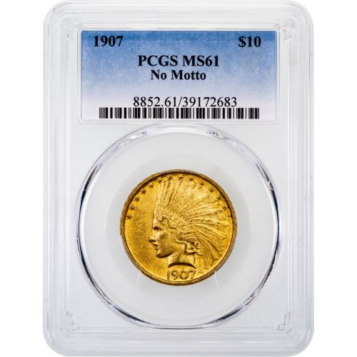 1907-P Indian Head Gold Eagle MS61